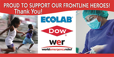 World Emergency Relief, Ecolabs and Dow proud to support our frontline heros during covid19. Thank You!