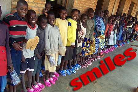 Smiling faces from kids in Africa